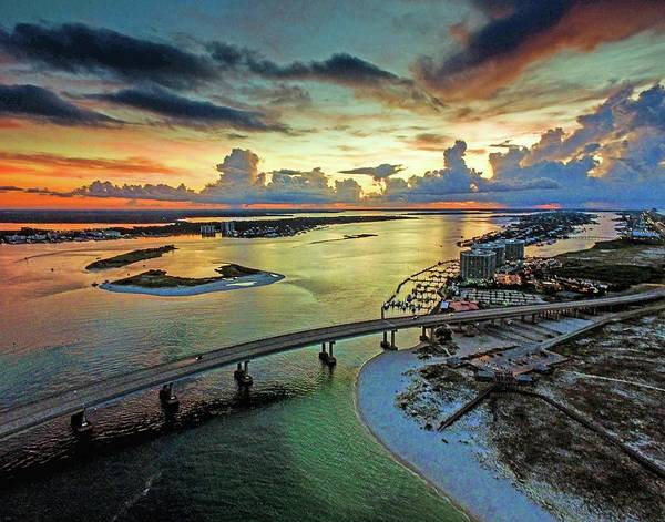 Wall Art - Photograph - Clouds And Storms At Sunrise At Perdido Beach Pass by Michael Thomas