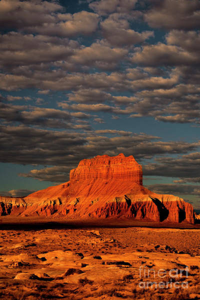 Photograph - Clouds At Sunrise Wild Horse Butte Goblin Valley Utah by Dave Welling