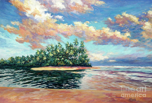 Trinidad Wall Art - Painting - Clouds At Sunset Over The Ortoire River by John Clark