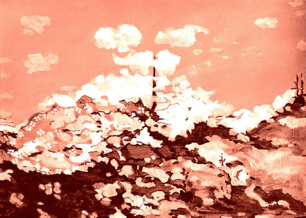 Spring Mountains Mixed Media - Clouds by Cassia Helfrich