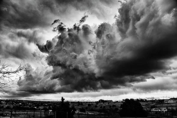 Photograph - Clouds Forming On The Dry Line by Karen Slagle
