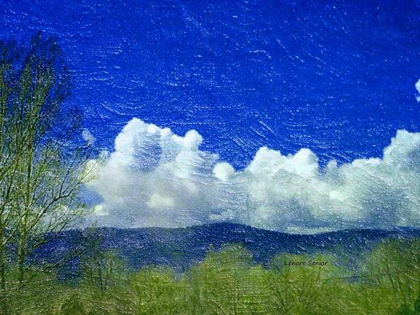 Spring Mountains Mixed Media - Clouds In Spring by Lenore Senior