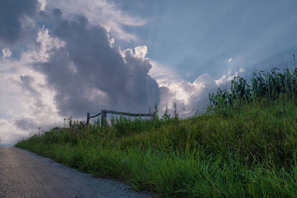 Amish Country Digital Art - Clouds On The Hill by John Kosh