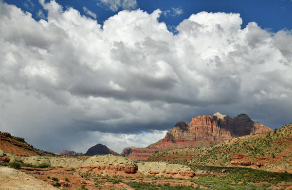 Photograph - Clouds Over Backside Of Zion Canyon by Ray Mathis