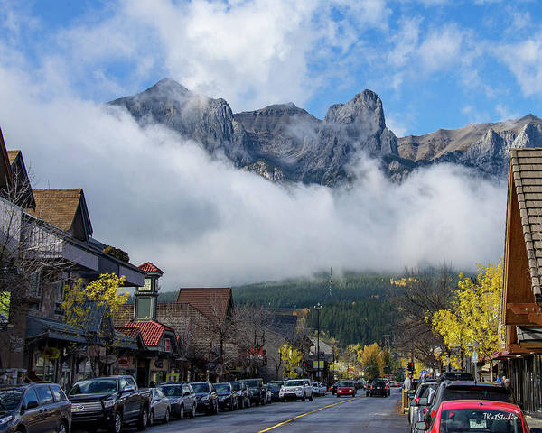 Photograph - Clouds Over Canmore by Tim Kathka