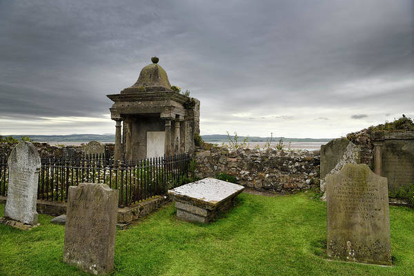 Berwick Upon Tweed Photograph - Clouds Over Cemetery At The Parish Church Of Saint Mary The Virg by Reimar Gaertner