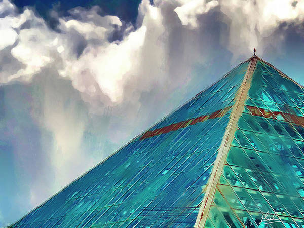 Wall Art - Photograph - Clouds Over Glass Pyramid by GW Mireles