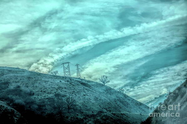 Wall Art - Photograph - Clouds Over Hills Los Angeles Grapevine  by Chuck Kuhn