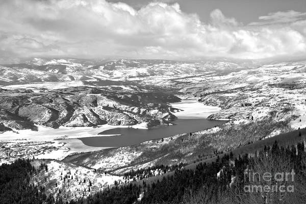 Photograph - Clouds Over Jordanelle Balck And White by Adam Jewell