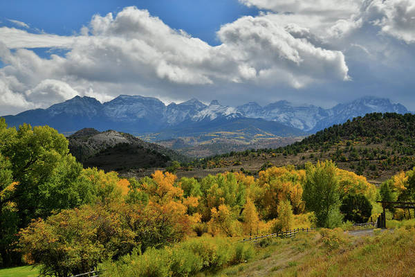 Photograph - Clouds Over Mt. Sneffels Seen From Highway 62 by Ray Mathis