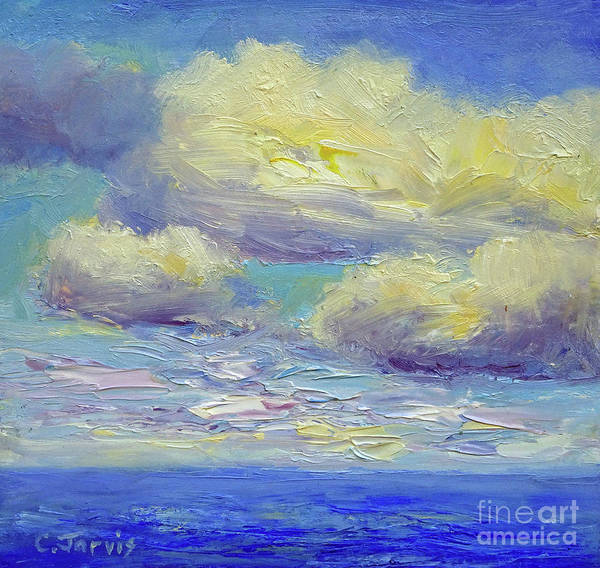 Painting - Clouds Over Ocean by Carolyn Jarvis