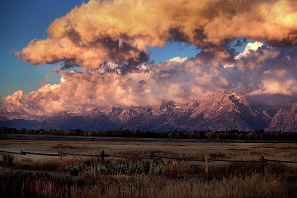 Photograph - Clouds Over Prairie In The Tetons by David Chasey