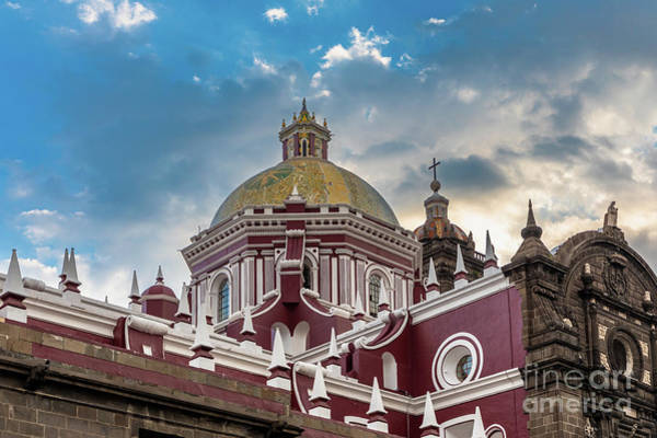 Photograph - Clouds Over Puebla Cathedral by Inge Johnsson
