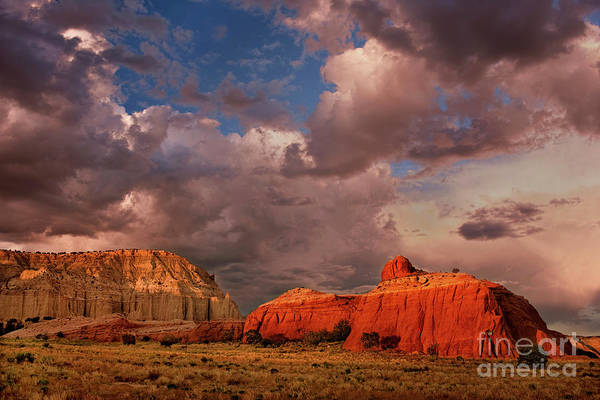 Photograph - Clouds Over Red Rock Formations Kodachrome Basin State Park Utah by Dave Welling