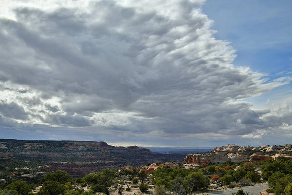 Photograph - Clouds Over The Neck In Canyonlands National Park by Ray Mathis