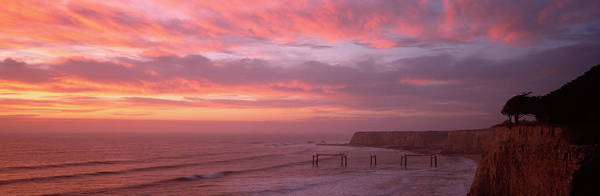 Wall Art - Photograph - Clouds Over The Sea At Dusk, Davenport by Panoramic Images