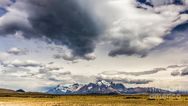 Photograph - Clouds Over Torres Del Paine National Park, Chile by Lyl Dil Creations