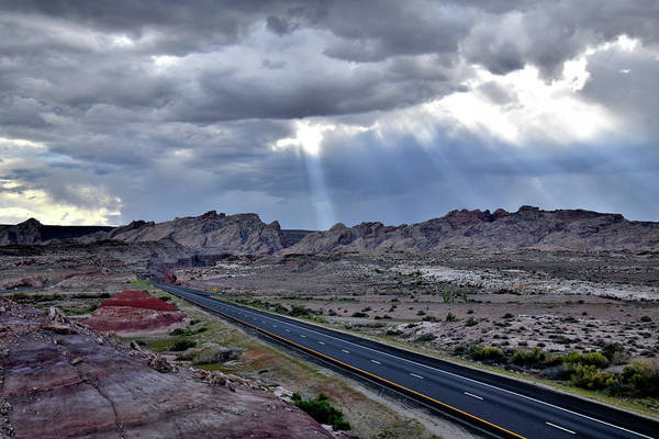Photograph - Clouds Part Above San Rafael Swell And I-70 by Ray Mathis