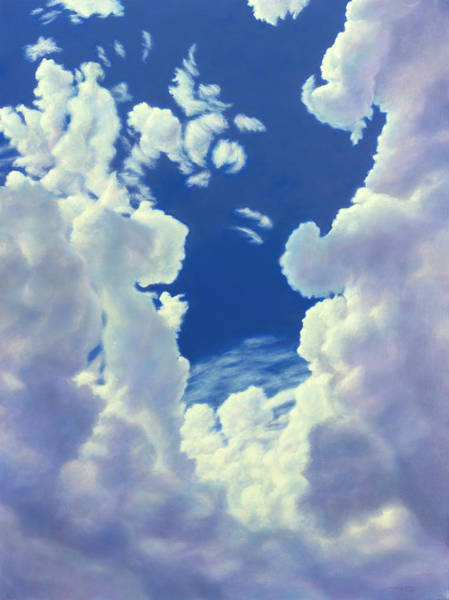 Wall Art - Painting - Cloudscape - 8-27-18 by James W Johnson