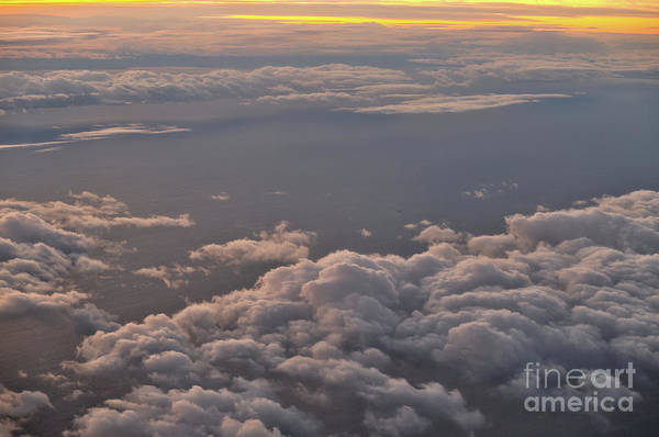 Photograph - Cloudscape At Sunset From An Airplane by Angelo DeVal