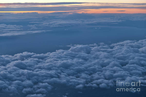 Photograph - Cloudscape At Twilight From An Airplane by Angelo DeVal