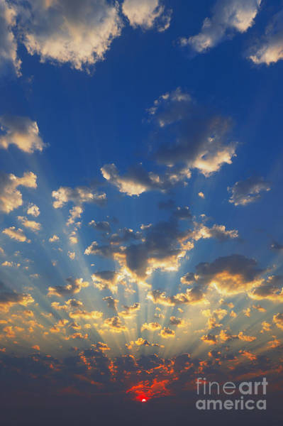 Wall Art - Photograph - Cloudscape With Sun-rays Shining by Johan Swanepoel