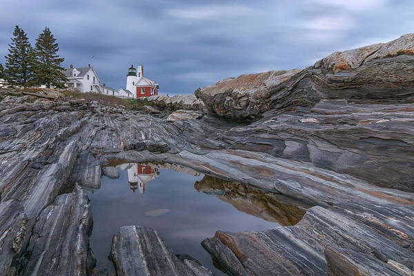 Cloudy Afternoon At Pemaquid Point Art Print