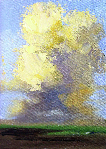 Wall Art - Painting - Cloudy Day by Nancy Merkle