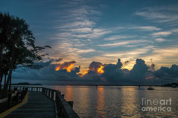 Photograph - Cloudy Horizon Sunrise by Tom Claud
