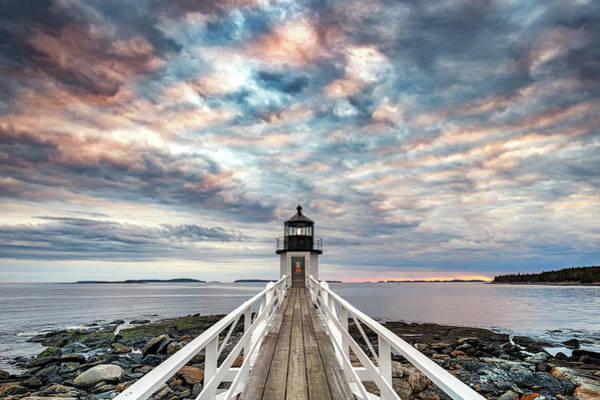 Photograph - Cloudy Skies At Marshall Point by Rick Berk