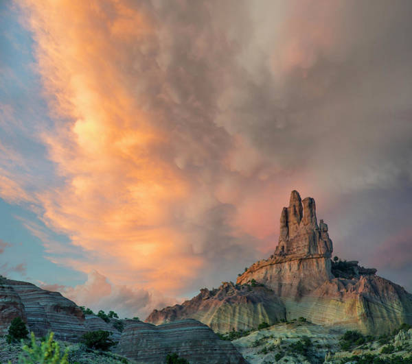 Photograph - Cloudy Sky Over Church Rock, Red Rock by