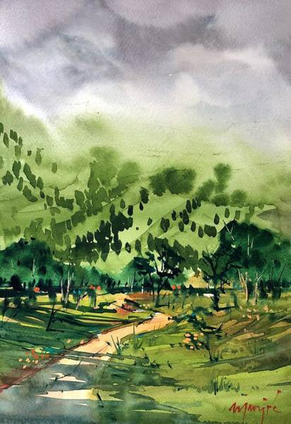 Wall Art - Painting - Cloudy Summer In Boulder by Ugljesa Janjic