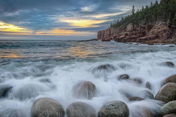 Photograph - Cloudy Sunrise At Boulder Beach by Kristen Wilkinson
