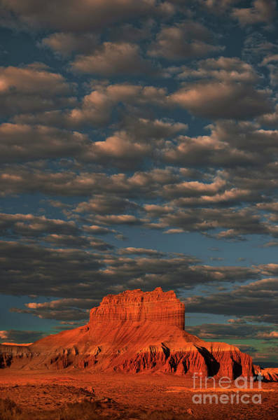 Photograph - Cloudy Sunrise Over Wild Horse Butte Goblin Valley Utah by Dave Welling
