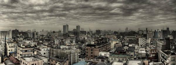 Wall Art - Photograph - Cloudy Tokyo Skyline by Chris Jongkind
