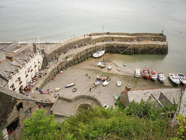 Wall Art - Photograph - Clovelly Harbour North Devon by Richard Brookes
