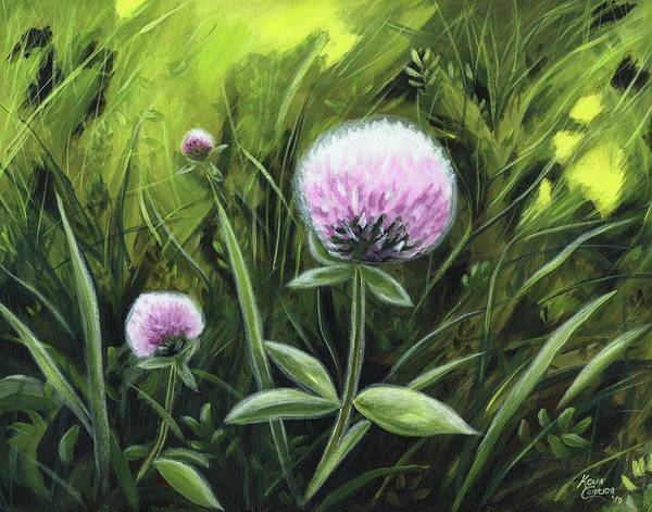 Wall Art - Painting - Clover Dance by Kevin Cameron