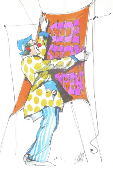 Clown Art Print by Art Scholz