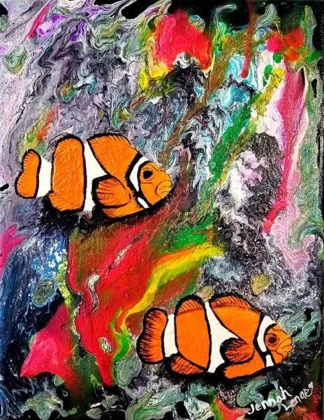 Painting - Clown Fish  by Jennah Lenae