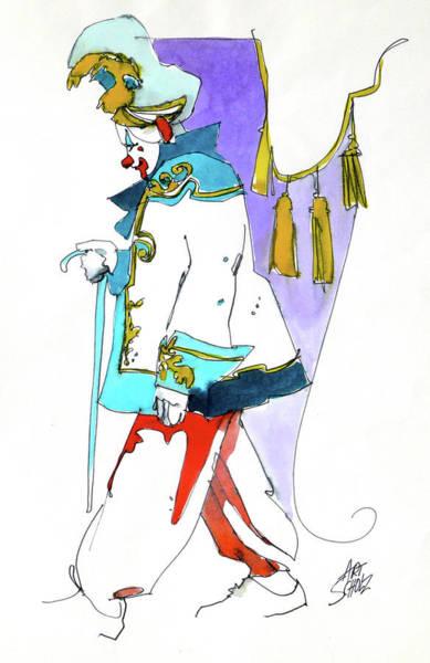 Clown Walk Art Print by Art Scholz