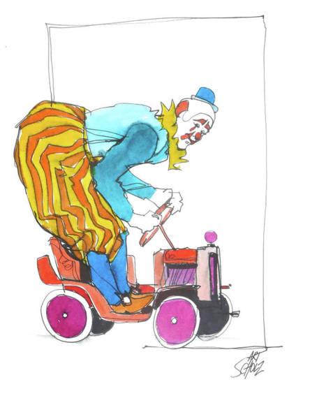 Clown's Car Art Print by Art Scholz