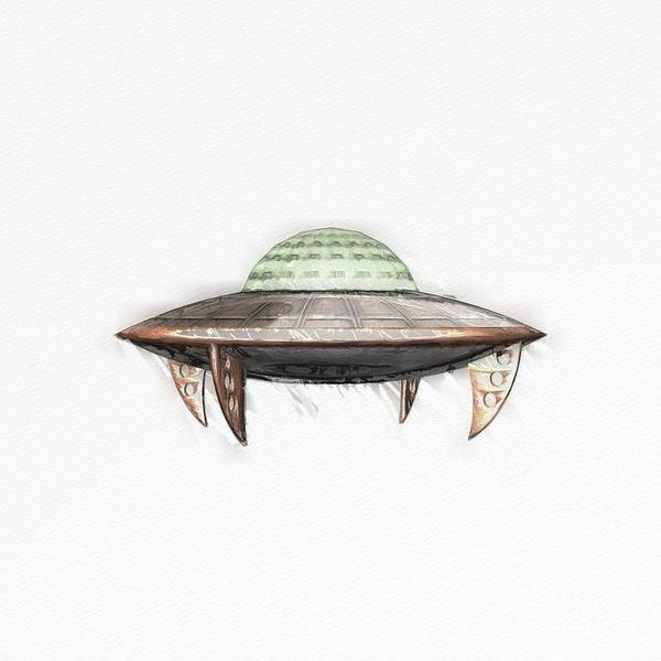 Wall Art - Painting - Clssic Ufo by Raphael Terra