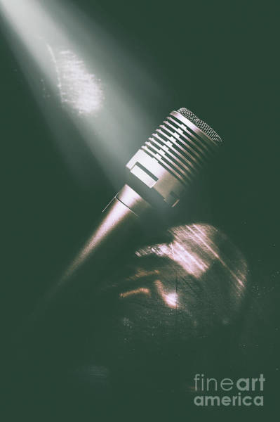 Microphone Photograph - Club Karaoke by Jorgo Photography - Wall Art Gallery