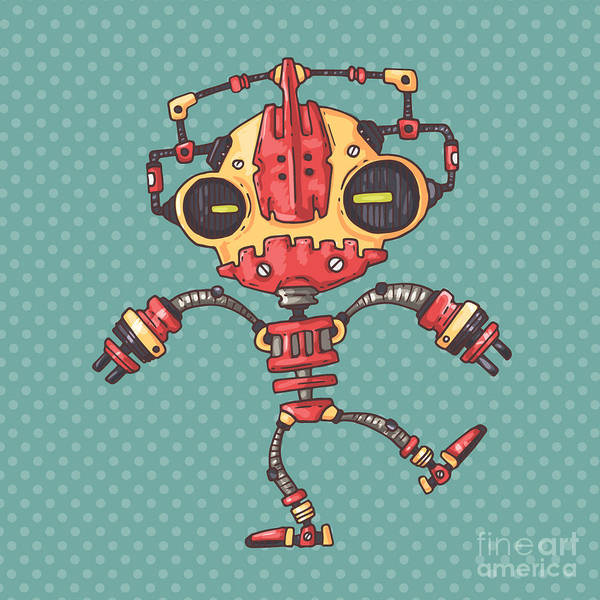 Wall Art - Digital Art - Clumsy Robot by Andrew Derr