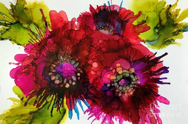 Ink Painting - Cluster by Beth Kluth