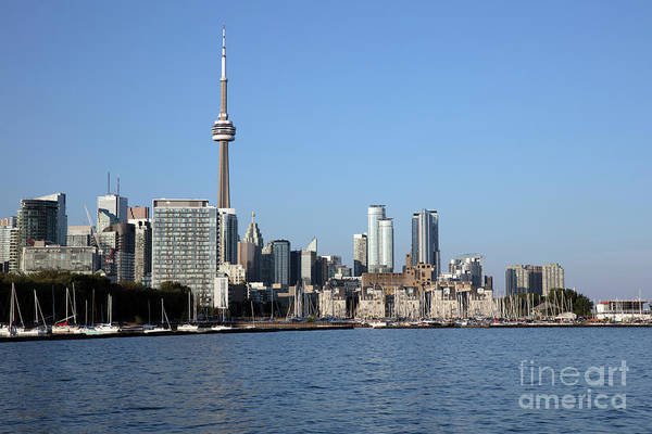 Wall Art - Photograph - Cn Tower And Toronto Waterfront by Bill Cobb