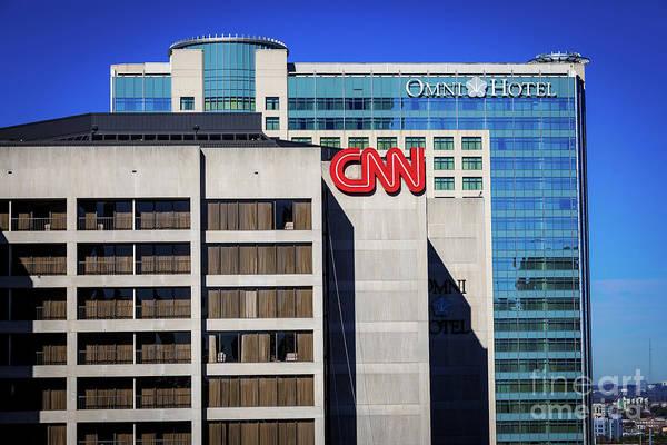 Photograph - Cnn Center - Omni Hotel - Atlanta Ga by Sanjeev Singhal