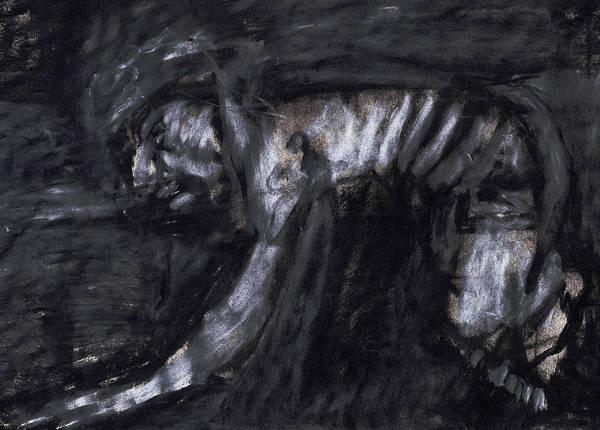 Drawing - Coal Miner by Artist Dot