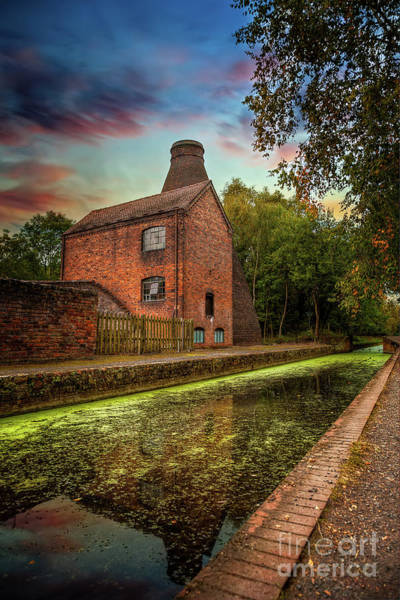 Wall Art - Photograph - Coalport Bottle Kiln Sunset by Adrian Evans