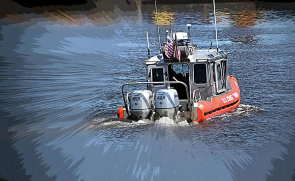 Wall Art - Photograph - Coast Guard On The Go by Maria Keady